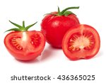 tomato and half with water... | Shutterstock . vector #436365025