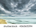 Stomy Clouds Over The Beach ...