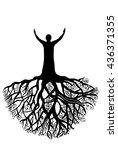 Rooted Man.silhouette...