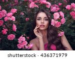 fashion style beauty romantic... | Shutterstock . vector #436371979