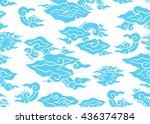 batik painting of indonesia... | Shutterstock .eps vector #436374784