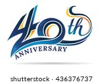 anniversary emblems 40 in... | Shutterstock .eps vector #436376737