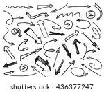 black drawn arrows. vector... | Shutterstock .eps vector #436377247