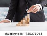 closeup of businessman making a ... | Shutterstock . vector #436379065