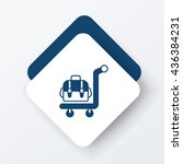 luggage icon  | Shutterstock .eps vector #436384231