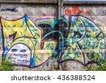 beautiful street art of... | Shutterstock . vector #436388524