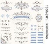 ornate retro labels  flourishes ... | Shutterstock .eps vector #436390921