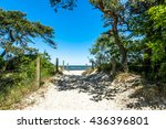 Entrance To The Beach Sea In...