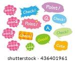 navigation pins set vector  | Shutterstock .eps vector #436401961