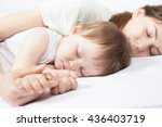 closeup hands of mother and... | Shutterstock . vector #436403719