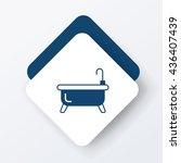 bathtub icon | Shutterstock .eps vector #436407439