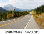 autumn scenic view of rocky... | Shutterstock . vector #43641784