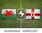 wales vs. northern ireland...   Shutterstock . vector #436421167