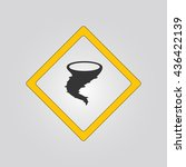 tornado sign. warning. icon | Shutterstock .eps vector #436422139