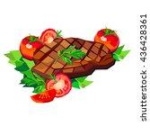 steak beef vector meat food...   Shutterstock .eps vector #436428361