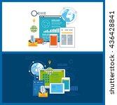 flat design illustration... | Shutterstock .eps vector #436428841