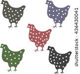 hens polka dot | Shutterstock .eps vector #436430041