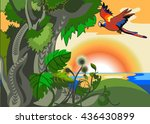 vector image of the exotic... | Shutterstock .eps vector #436430899