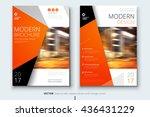 brochure design. corporate... | Shutterstock .eps vector #436431229