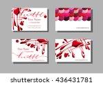 makeup artist business card.... | Shutterstock .eps vector #436431781