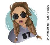 pretty sexy summer girl wearing ...   Shutterstock .eps vector #436434001