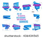 sale banner design. big set of... | Shutterstock .eps vector #436434565