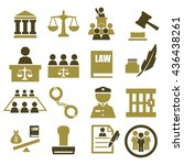 attorney  court  law icon set | Shutterstock .eps vector #436438261