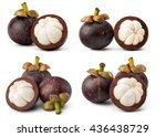 a set of fresh mangosteen... | Shutterstock . vector #436438729
