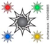 ten pointed star logo template... | Shutterstock .eps vector #436438885