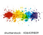 rainbow paint splashes for your ... | Shutterstock .eps vector #436439809