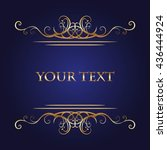 golden pattern in antique style ... | Shutterstock .eps vector #436444924