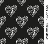 seamless vector pattern with... | Shutterstock .eps vector #436445221