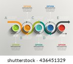 business circle timeline banner.... | Shutterstock .eps vector #436451329