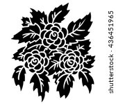 bouquet flowers  leaves hand... | Shutterstock .eps vector #436451965