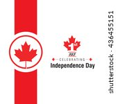 1st of july canada independence ... | Shutterstock .eps vector #436455151