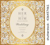 wedding card  invitation card ... | Shutterstock .eps vector #436457461
