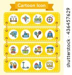 icon set toy vector | Shutterstock .eps vector #436457629