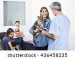 Woman Holding Cat While Lookin...