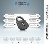 infographic illustration. lock... | Shutterstock .eps vector #436459219