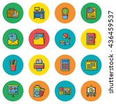icon set office vector | Shutterstock .eps vector #436459537