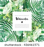 abstract watercolor background... | Shutterstock . vector #436461571