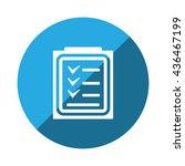 checklist icon | Shutterstock .eps vector #436467199