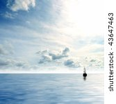 Picture Of Lonely Sailing Boat