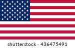 usa flag vector. flag of the... | Shutterstock .eps vector #436475491