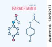 paracetamol  acetaminophen ... | Shutterstock .eps vector #436480675