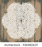 ornamental round pattern with... | Shutterstock .eps vector #436482625