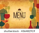 restaurant menu design. vector... | Shutterstock .eps vector #436482919