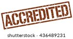accredited stamp.stamp.sign... | Shutterstock .eps vector #436489231