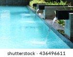 modern swimming pool  | Shutterstock . vector #436496611