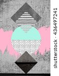 minimal and trendy poster or... | Shutterstock . vector #436497241